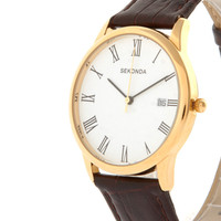 Sekonda Brown Leather Watch at asos.com