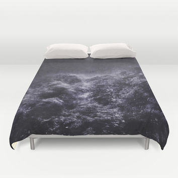 Sometimes ... the trees are angry Duvet Cover by HappyMelvin