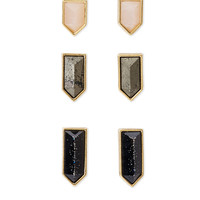 Faux Stone Stud Set