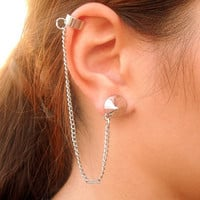 1 Silver Spike Ear Cuff by Tiny - Spike ear cuff by Box