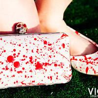 Blood Splatter Victim Splats | Great For Halloween