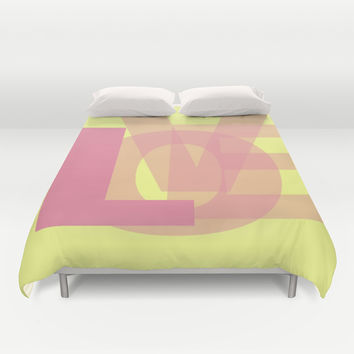 L-OVE Duvet Cover by RichCaspian