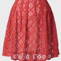 floral drift lace skirt at ShopRuche.com