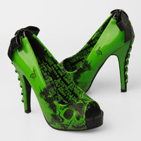 Iron Fist American Nightmare Platform Heel - Lime Green