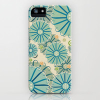 Retro Crazy Flowers iPhone Case by Susan Weller | Society6