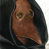 Leather Plague Doctor Mask Steampunk
