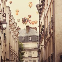 Paris photograph  Paris is a feeling   Hot air by irenesuchocki