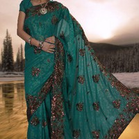Embroidered Georgette Saree : Online Shopping, - Shop for great products from India with discounts and offers