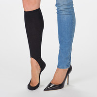 Women's No Show Sock Pair - Black Light