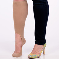 Women's No Show Sock Pair - Nude Wide