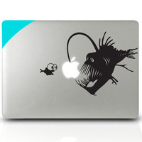 Light fish Mac Book Mac Book Air Mac Book Pro Mac Sticker Mac Decal Apple Decal Mac Decals