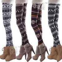 Knitted women leggings ,