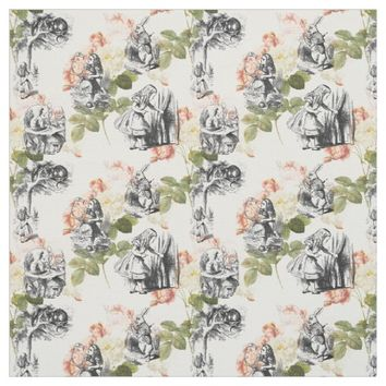 Alice in Wonderland Vintage Roses Fabric