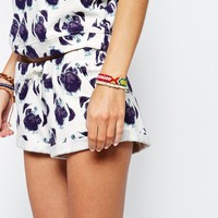 Brat & Suzie Sweat Shorts With All Over Pug Face Print Co-Ord