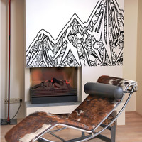 Vinyl Wall Decal Sticker Abstract Mountains #OS_AA919