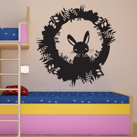 Vinyl Wall Decal Sticker Rabbit Hole #OS_DC631