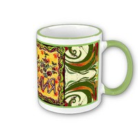 A folk art Russian Happy Birthday Cup from Zazzle.com