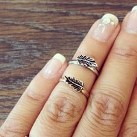 Leaf Midway Knuckle Rings from Papers & Peonies