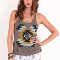Insightful Tribal Tank - &amp;#36;28.00 : ThreadSence.com, Your Spot For Indie Clothing &amp; Indie Urban Culture