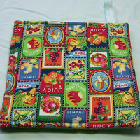 Fruit, Pot Holders, Set of Two, Assorted Fruit Blocks, Seed Packets