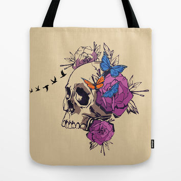Skull Tote Bag by Haroulita
