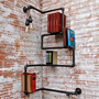 Industrial Pipe Corner Shelf, Press On
