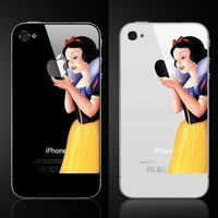 Snow white--iPhone Decal iPhone 4 Stickers iPhone 4 iPhone 4S Decals Apple Decal iPad stickers iPhone 4S Stickersiphone5 Decals