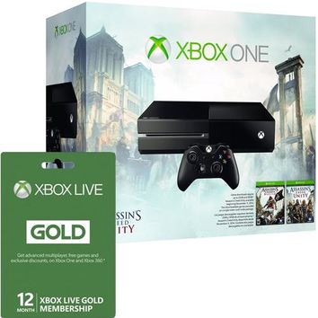 Xbox One Assassin's Creed Bundle with 12 Months of Xbox Live
