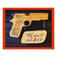 Gun Poster Sign from Zazzle.com