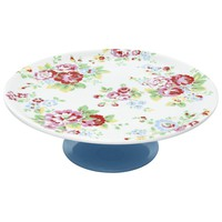 Cath Kidston Single Tier Cake Stand, Spray Flowers online at JohnLewis.com - John Lewis