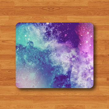 Galaxy Nebula Colorful Space Mouse Pad Mat Little Star Rainbow MousePad Natural Desk Deco Vintage Computer Pad Personalized New Year Gift