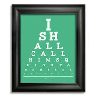 Finding Nemo, I Shall Call Him Squishy And He Shall Be Mine Eye Chart, 8 x 10 Giclee Print BUY 2 GET 1 FREE