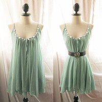 Secret Garden Chiffon Green Dress Autumn by RiverOfRomansk on Etsy