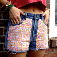 SALE - Floral Jersey Fabric Shorts