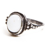 Antique White Gem Ring