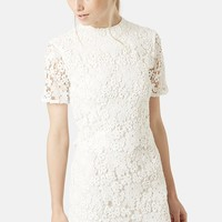 Women's Topshop Daisy Lace Overlay Sheath Dress,