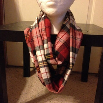 Women's Flannel Plaid Infinity Scarf from Nicole Ray