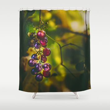 Pinot II Shower Curtain by HappyMelvin