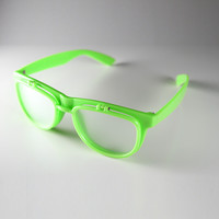 PrismFlipz Rave Nerd Glasses - Neon Green