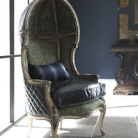 "Old Hickory Tannery - ""Lawson"" Balloon Chair - Horchow"