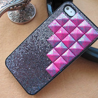Stud iPhone 5 Case // Unique Purple Color Pyramid Studded iPhone Case // iPhone Hard Case Cover // Fits iPhone 5