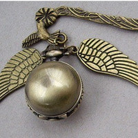 Harry Potter Enchanted Golden Snitch WATCH bookmark with Double Sided wings