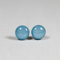 Blue Pearl Stud Earrings -Light Blu.. on Luulla