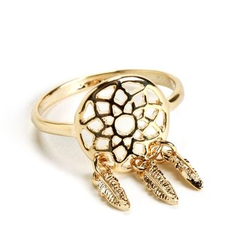 Gold Dreamcatcher Ring