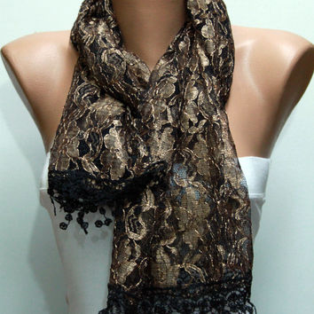 Copper Lace Scarf Shawl Scarf Cowl Bridesmaid Gift Bridal accessories Gift Ideas For Her Women Fashion Accessories best selling item
