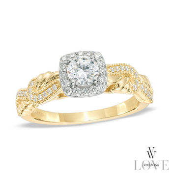 Vera Wang LOVE Collection 5/8 CT. T.W. Diamond Engagement Ring in 14K Gold