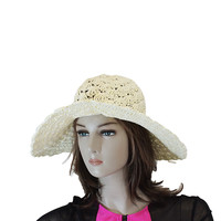Creamy white western floppy hats