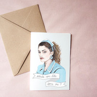 Shelly Johnson Twin Peaks greeting card birthday Valentine day