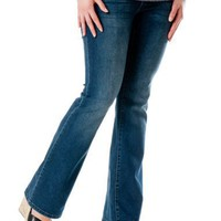 Motherhood Maternity: American Star Secret Fit Belly(tm) Stitch Detail Skinny Boot Maternity Jeans...
