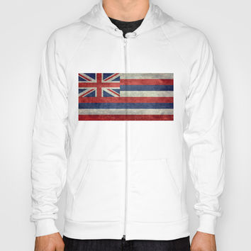 The State flag of Hawaii - Vintage version Hoody by Bruce Stanfield